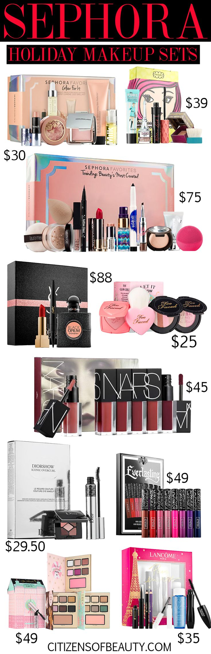 Sephora has rolled out their holiday gift sets! Check out my favorites for 2016.