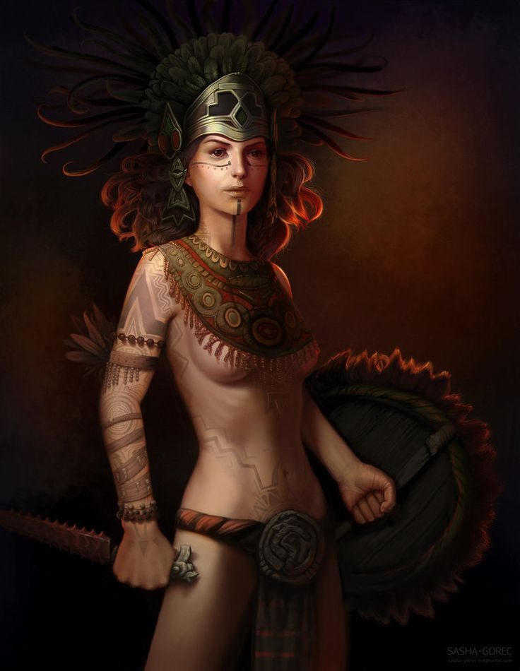 """Coyolxauhqui- aztec moon goddess. Coyolxauhqui means """"Golden Bells"""" and is the sister of the Sun god, Huitzilopochtli.."""
