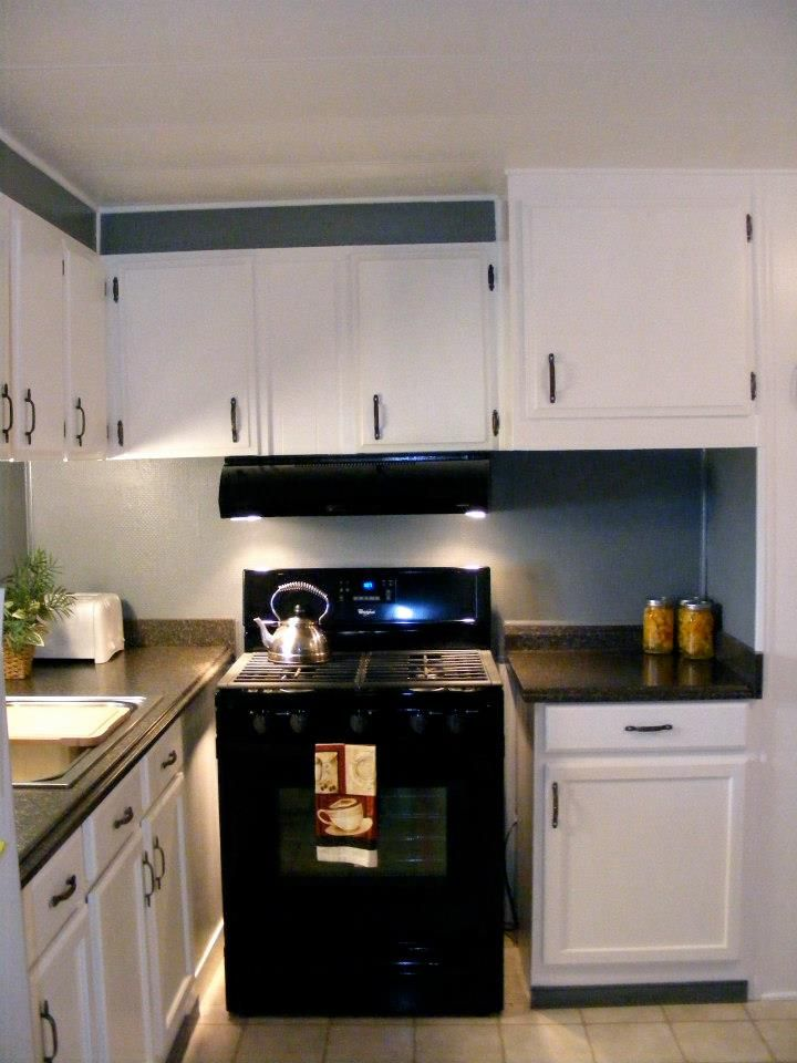 What Are Mobile Home Cabinets Made Of Part - 47: 1971 Single Wide Kitchen Remodel