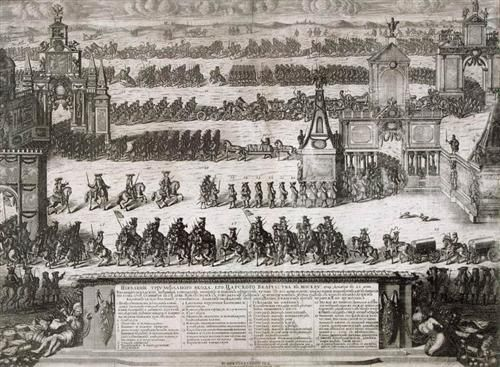 The Ceremonial Entry of the Russian Troops to Moscow on December 21, 1709 after their Victory in the Battle of Poltava - Alexey Zubov