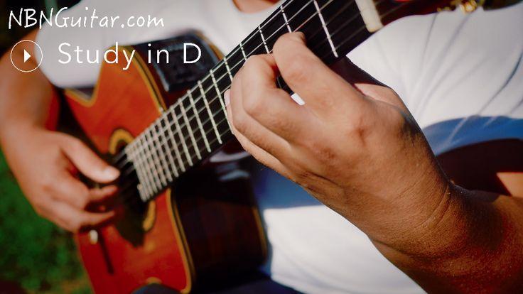 """Study in D"" Fernando Sor Online Classical Guitar Lesson"