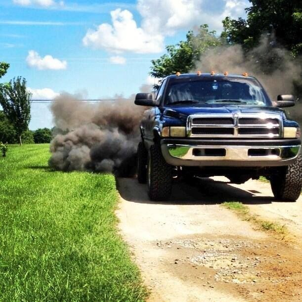 Guys Rollin coal in trucks..sexy AF