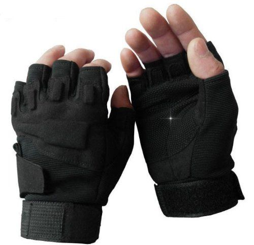 Derkang Military Half-finger Fingerless Tactical Airsoft Hunting Riding Cycling Gloves Outdoor Sports Fingerless Gloves Black / Green / Beige (Black, M) Xinhenchen http://www.amazon.co.uk/dp/B00G23GA3K/ref=cm_sw_r_pi_dp_Oy8ewb1MMV7Z6