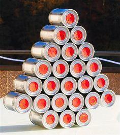 Weihnachtsbaum aus Konserven / Adventskalender / Christmas tree made of tin cans / Advent Calendar / Upcycling