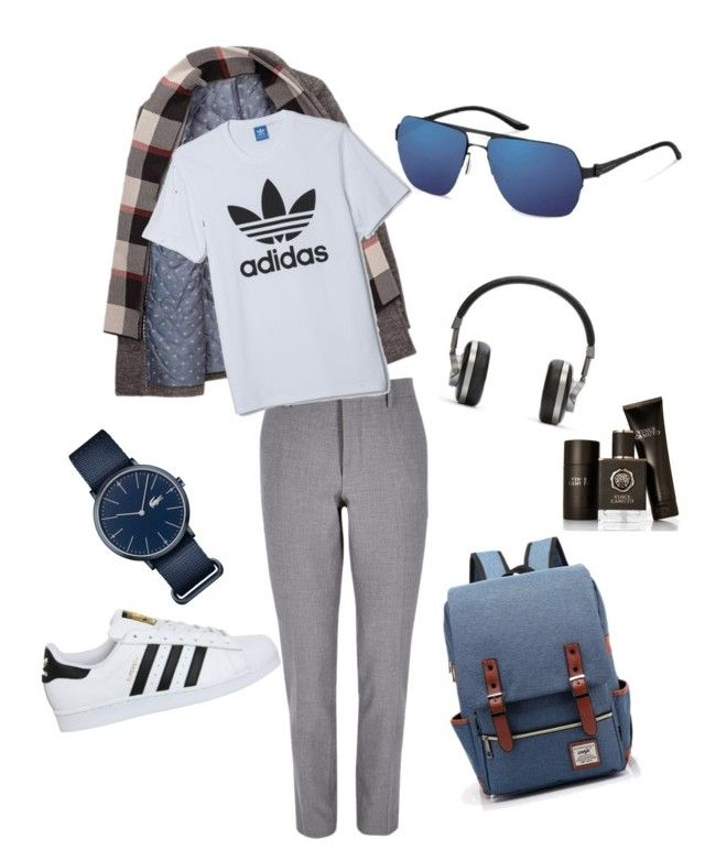 Gym Style by lenshop-gr on Polyvore featuring River Island, adidas, Master & Dynamic, Lacoste, Vince Camuto and sunglasses Mercedes Benz http://lenshop.gr/manufacturers/9358-mercedes-benz/sunglasses