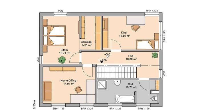 397 besten grundriss einfamilienhaus bilder auf pinterest for Bauhaus einfamilienhaus grundriss