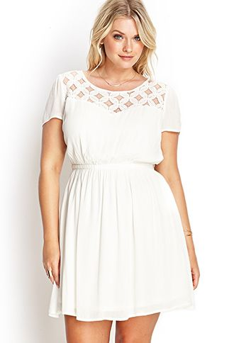 Lace-Up Crochet Lace Dress | FOREVER21 PLUS - 2000121645#SummerForever #F21xMe