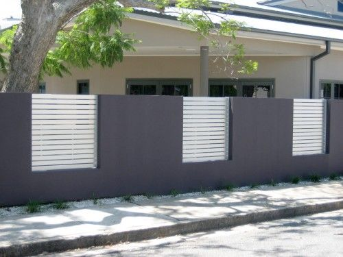 Contemporary Front Fence Design Ideas