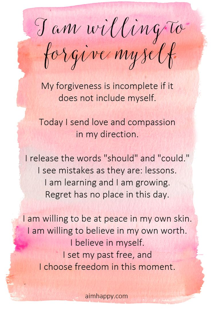 An Affirmation for Forgiving Yourself » Aim Happy