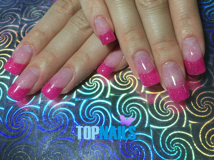 Uñas Acrílicas Francesas y Gel Glitter.(Acrylic Nails French and Glitter Gel)  Hazte Fans o Me Gusta  en https://www.facebook.com/topnails.cl   www.topnails.cl ☎94243426, saludos Beatriz