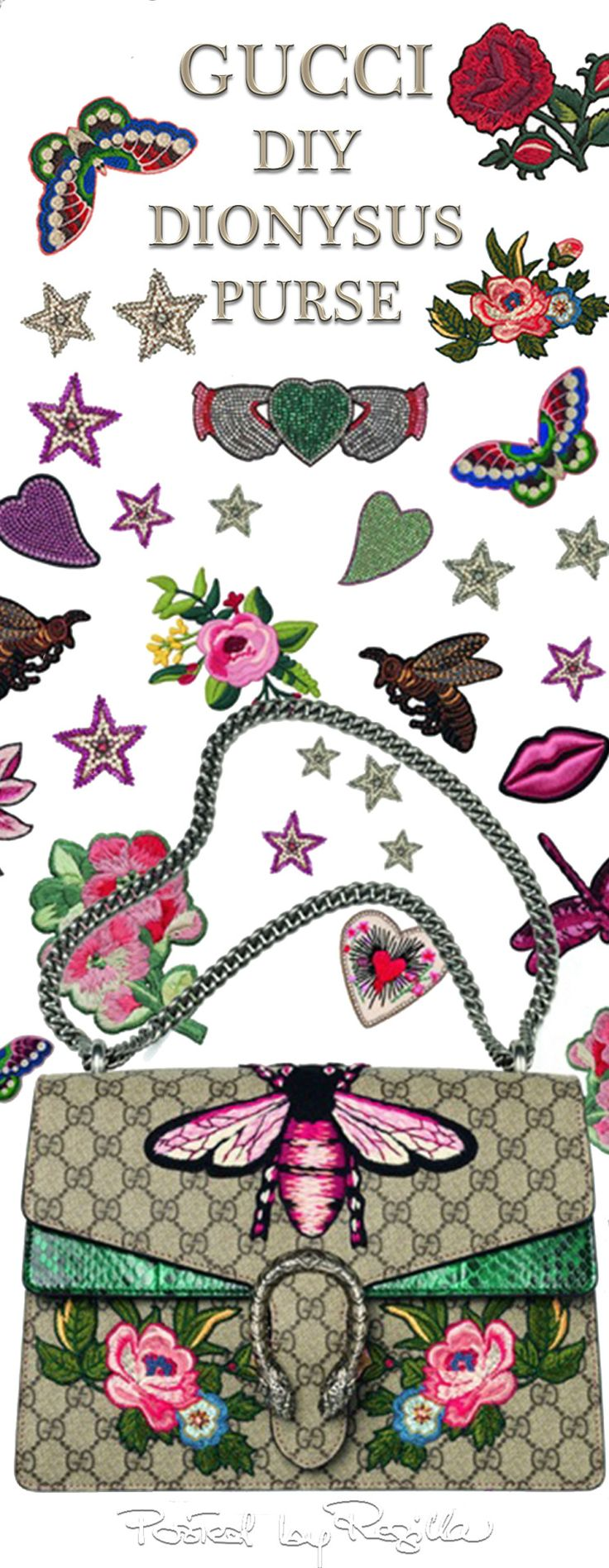 Regilla ⚜ May 2016, Gucci Launches a DIY Service to Customize Its Famous Dionysus Purse