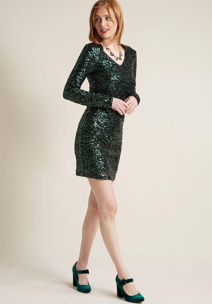 Going-Out Glitz Sequin Sheath Dress in XL - Long Mini