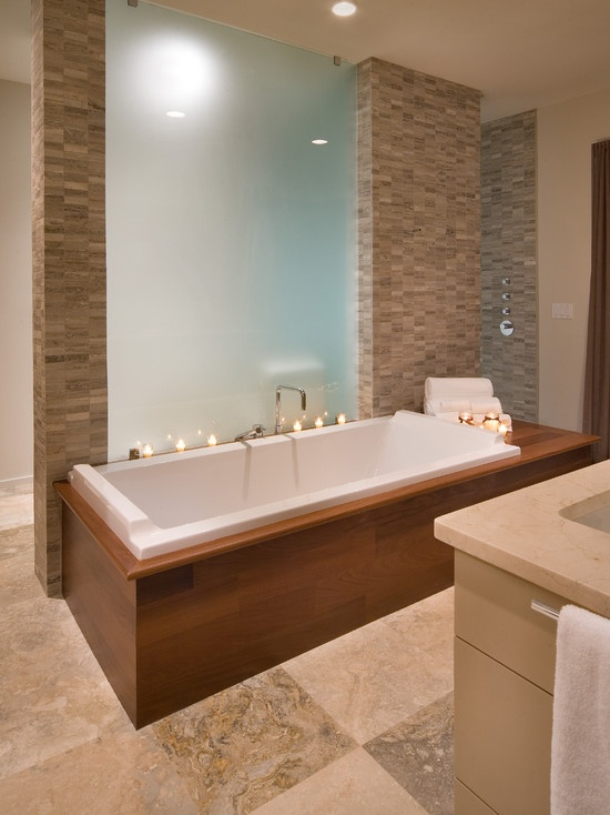55 best images about bath remodel ideas on pinterest for Decorating ideas tub surround