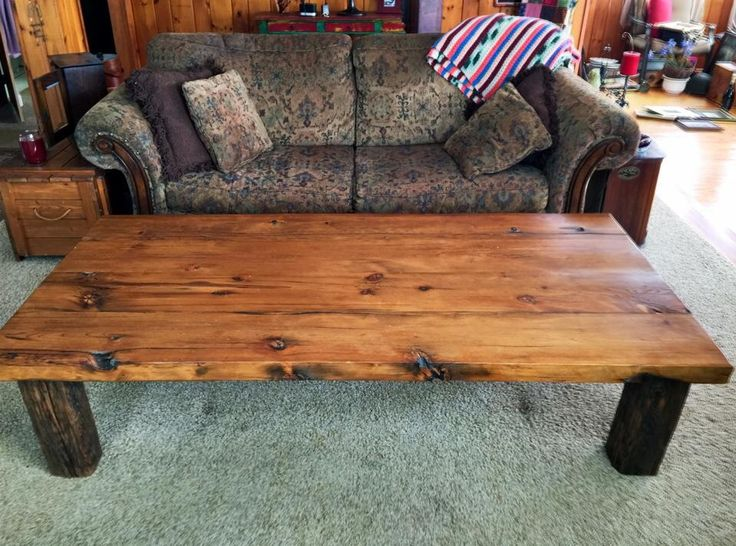 Reclaimed Wood Coffee Table, Hand Built From 120 Year Old Reclaimed Rustic  Timbers And Hand