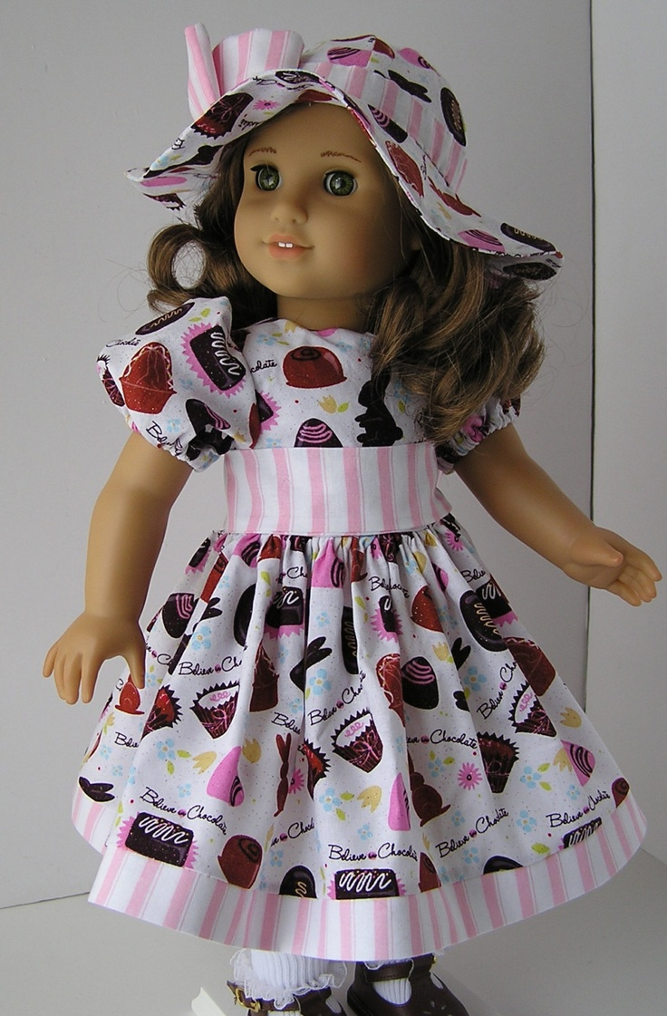 "Reserved for Juneroseladybug Happy Easter Dress and Bonnet for 18"" Doll. $22.00, via Etsy."