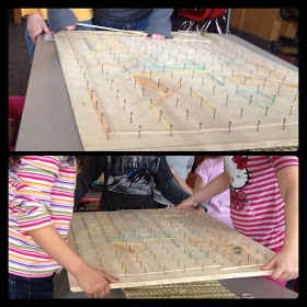 """Collaborative marble mazes fun in Mrs. Myers' class ("""",)"""