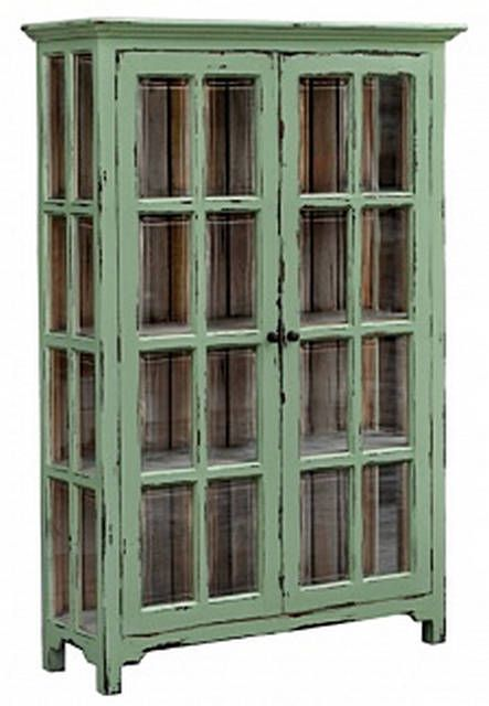 Hamptons Glass Door Bookcase