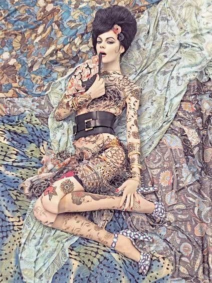 Patterns by Steven MeiselLara Stones, Design Pattern, Italian Vogue, Tattoo Pattern, Steven Meisel, Vogue Patterns, Big Hair, Stevenmeisel, Fashion Shoots