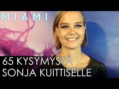 MIAMI-elokuvan Sonja Kuittinen vastaa 65 kysymykseen. MIAMI nyt elokuvateattereissa nyt.