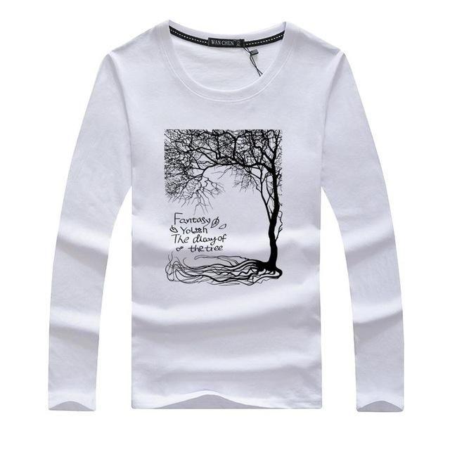 Pioneer Camp Men T Shirt New 2017 Cotton Simple Print: 2017 Mens T Shirts Fashion Swag Men Slim Long Sleeve T