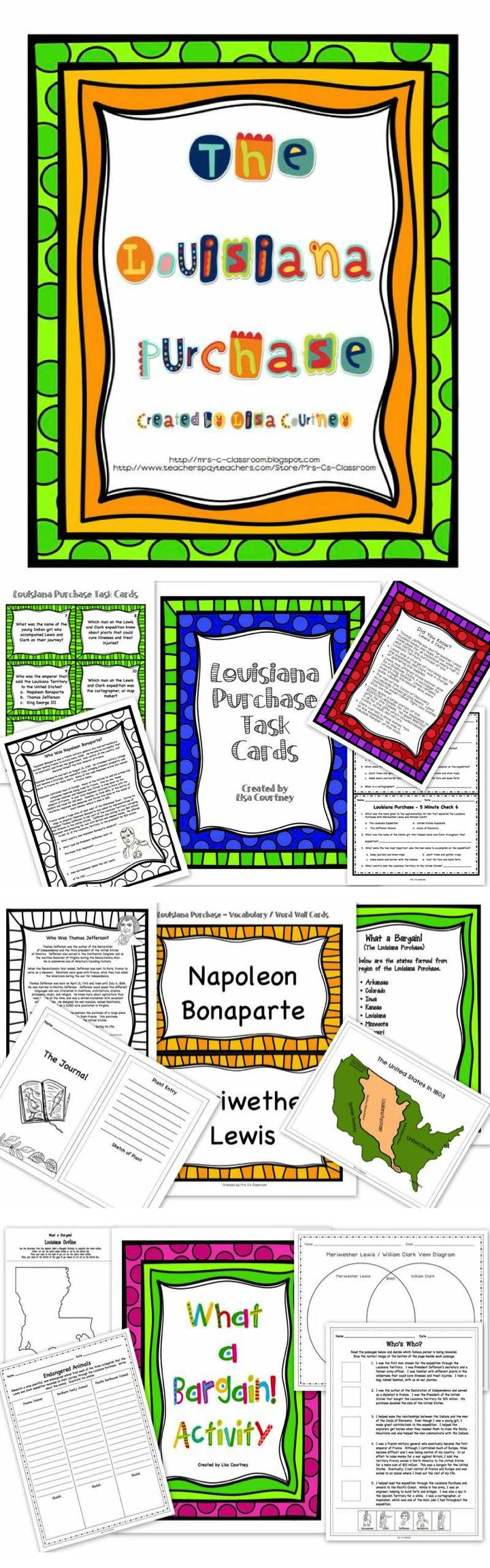 worksheet Louisiana Purchase Worksheet 1000 ideas about louisiana purchase on pinterest history lewis clark this 89 page unit contains everything you need to