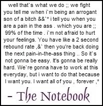 This is by far my favorite movie quote of all time. Also one of my top 5 favorite scenes from a movie ever. And also the moment I fell in love with Ryan Gosling.