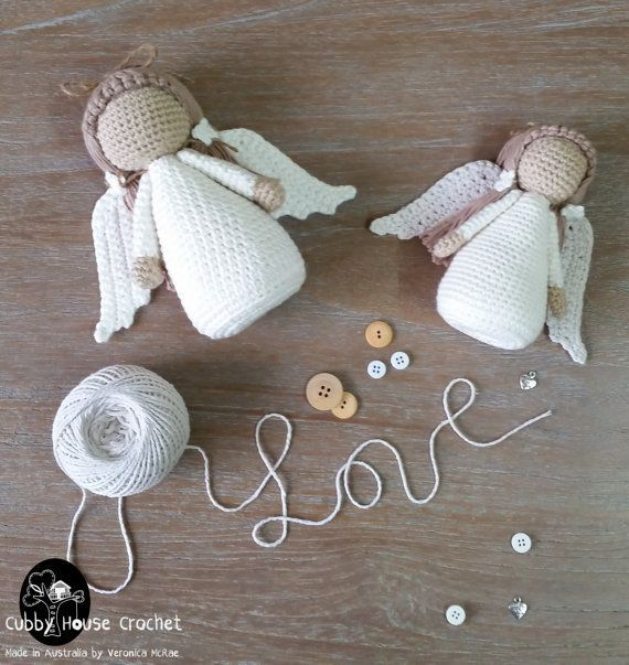 Angel Crochet Pattern PDF by CubbyHouseKids on Etsy affiliate