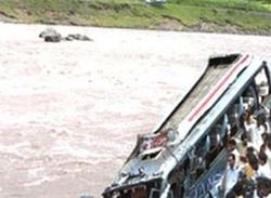 Two killed as bus falls into Godavari river Read complete story click here http://www.thehansindia.com/posts/index/2015-05-21/Two-killed-as-bus-falls-into-Godavari-river-152440
