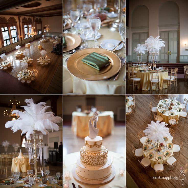 Great Gatsby Inspired Wedding Reception Decor.