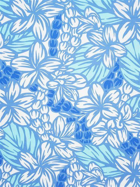 Plumeria&Mokihana Lei Peri&Creamu0009 Poly Cotton LW-18-654
