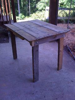 Weathered Pieces: Pallet Table