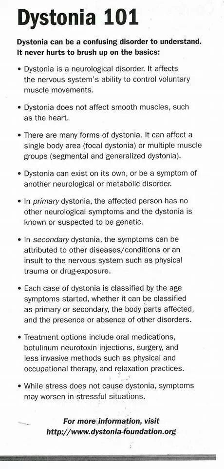 17 Best Images About Brynnley Dystonia Info On Pinterest
