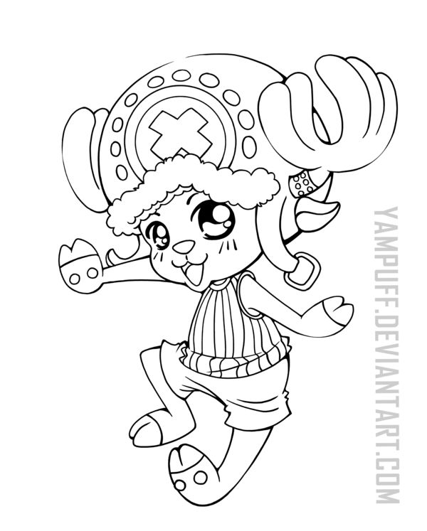 Tony Tony Chopper ::One Piece Lineart Commission: by ...