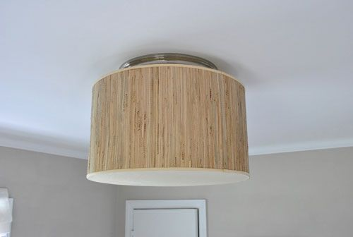 Young House Love | Making A Ceiling Light With A Diffuser From A Lamp Shade