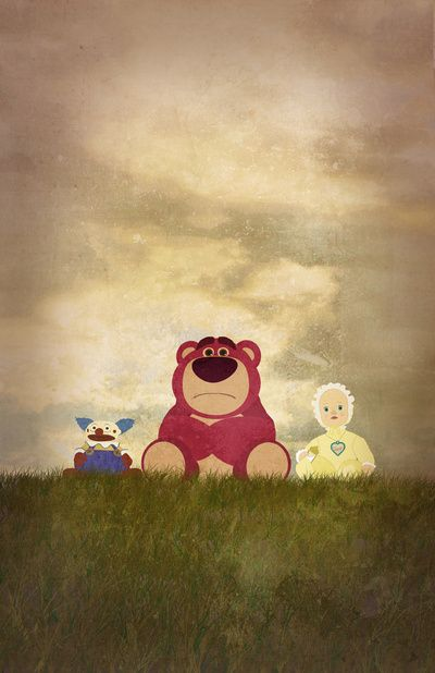"""The Tragedy of Lotso"" Available for purchase as framed art print, t-shirt, throw pillow, iphone case, and more! http://society6.com/RobertScheribel/The-Tragedy-of-Lotso_Print"