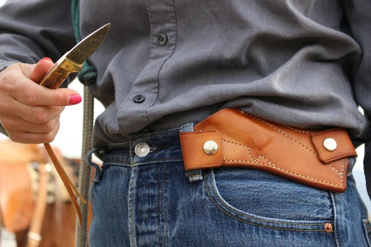 Buckaroo Beltless Sheath - might work things other than knifes.