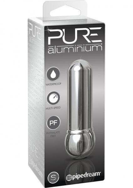 Pure Aluminium Small Vibrator Waterproof Silver 3 Inch box