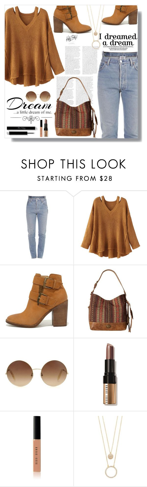 """""""Dream"""" by kris-e ❤ liked on Polyvore featuring Vetements, WithChic, Steve Madden, American West, Victoria Beckham, Love Quotes Scarves, Bobbi Brown Cosmetics and Kate Spade"""