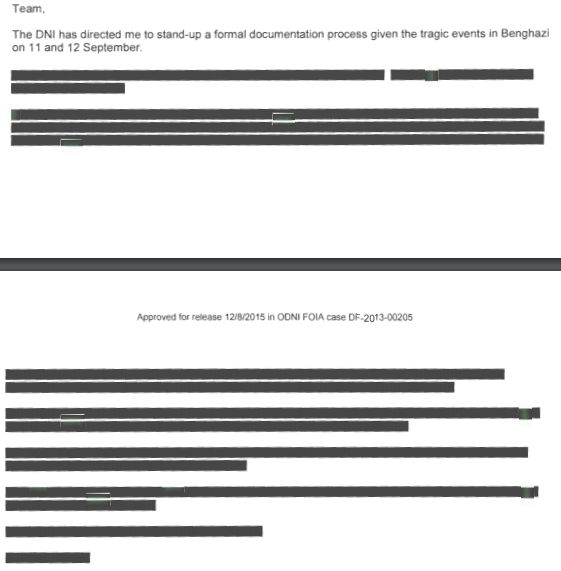 U.S. Intel Agency Releases Redacted Benghazi Emails in Christmas Eve Hillary News Dump