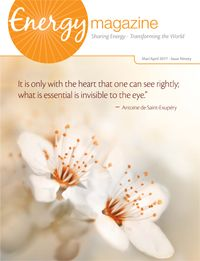 Get the latest issue of Energy Magazine. It's FREE! Subscribe at http://energymagazineonline.com/subscribe. In the March/April issue you'll find: •Strategies for empaths by Judith Orloff •Helping children heal with energy work •Guidance on when to share intuitive knowing—and when not to •Bringing energy medicine to the hairdresser's chair •Healing method Tong Ren •Energy medicine and environmental justice