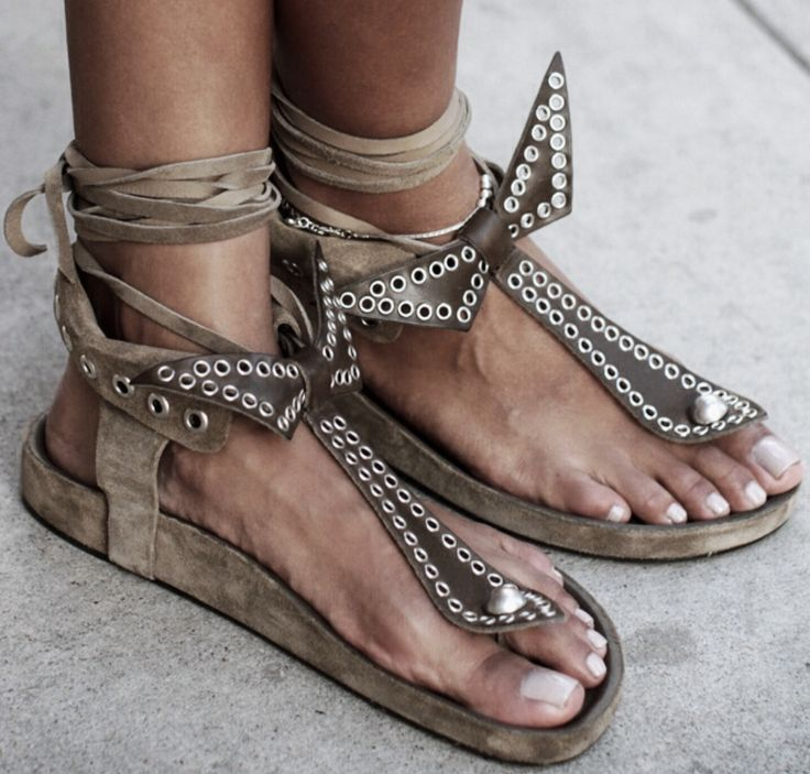 Isabel Marant suede and leather sandals - Anastassia Krez