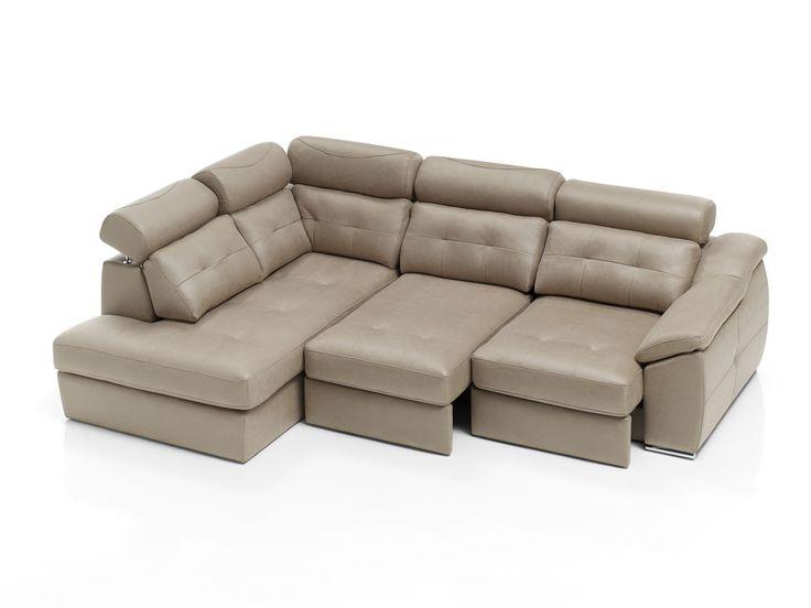 #Sofa Nitro con #chaiselongue terminal y asientos extraíbles.