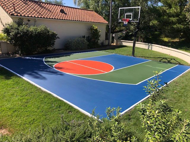 Colorful Basketball Court Construction Basketball Court Backyard Outdoor Basketball Court Home Basketball Court