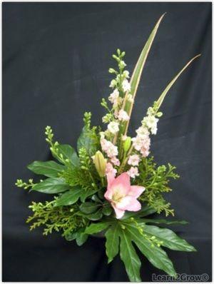 line design in floral arrangement | Floral Design Lesson 3: Contemporary Design: Gardening