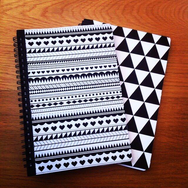 Gjorde två Personliga anteckningsblock med egna mönster utifrån enkla Ikea-block.