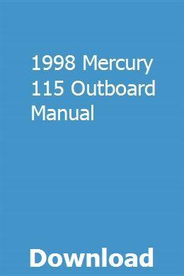 1998 Mercury 115 Outboard Manual pdf download online full