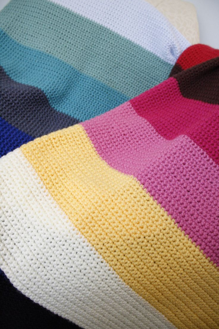 Color Block Baby Afghans Patterns Blankets And Crochet