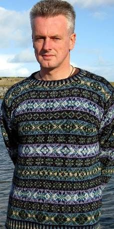 """Skaw Taing Hand Knit Fair Isle Sweater, Jumper :: Mary Williamson :: Skaw Taing Fair Isle. AND YOU CAN ORDER ONE TO XXL (50"""" chest)."""