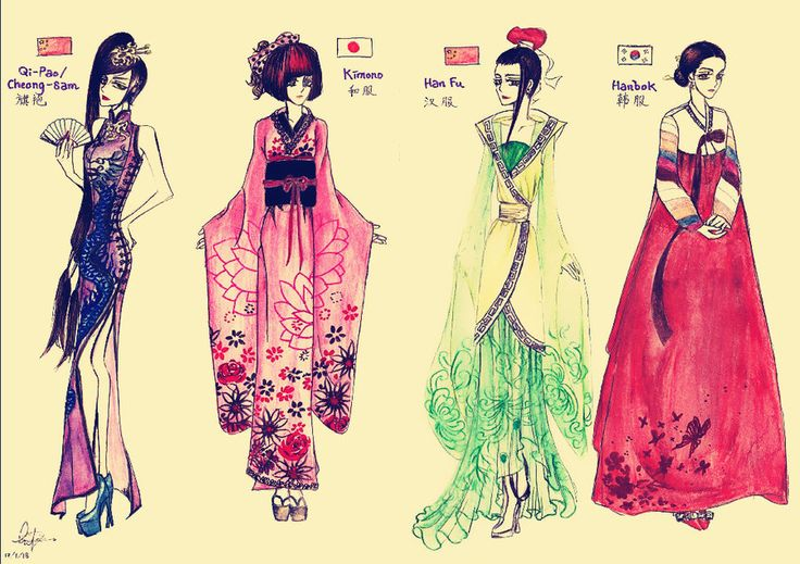 Traditional Asian Attire Demo By Fashion Pinterest