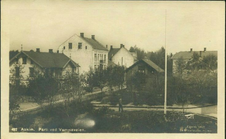 Østfold fylke Askim parti ved Vammaveien Brukt 1922. Utg Carl Normann, Hamar.